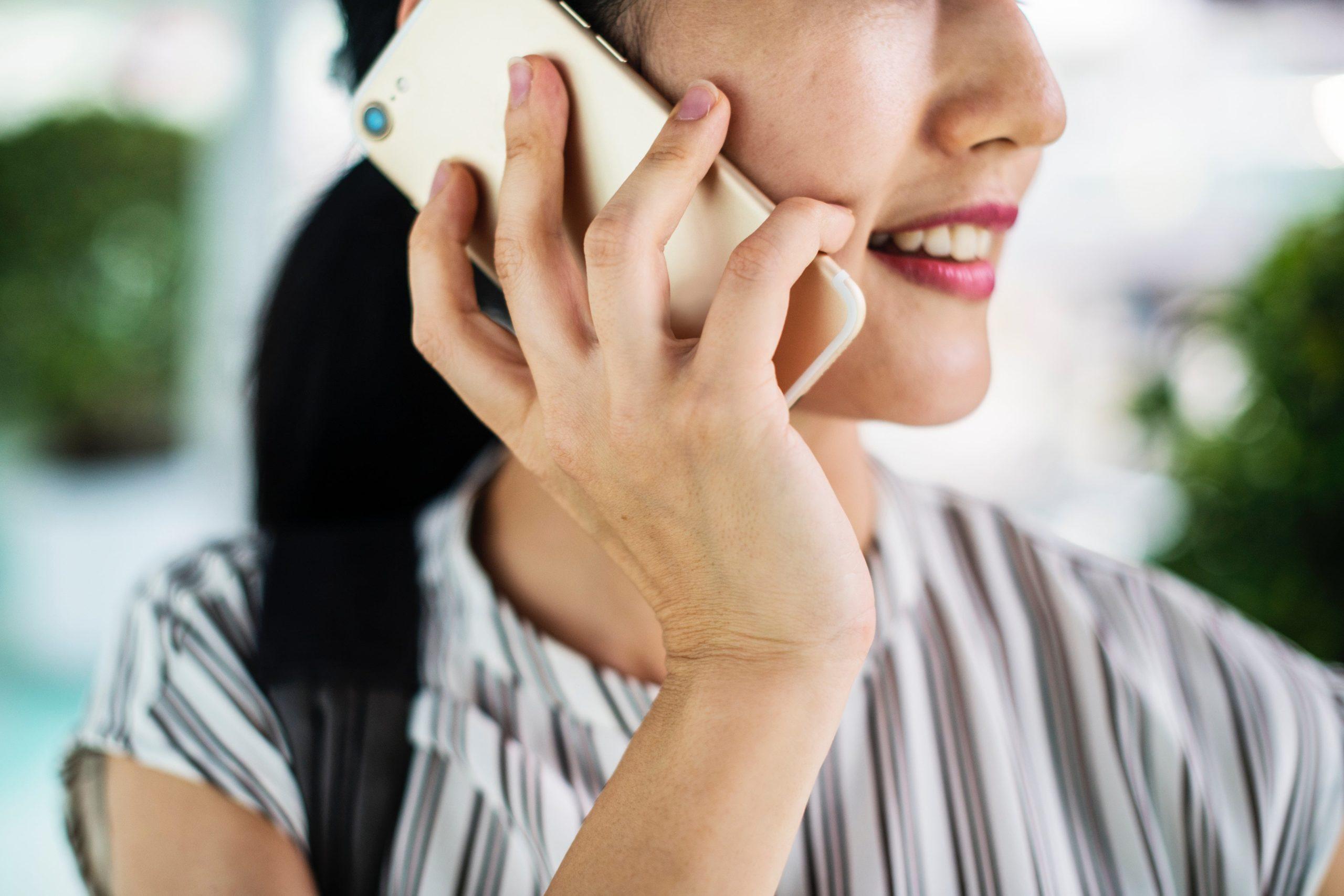 Customer making a phone call.