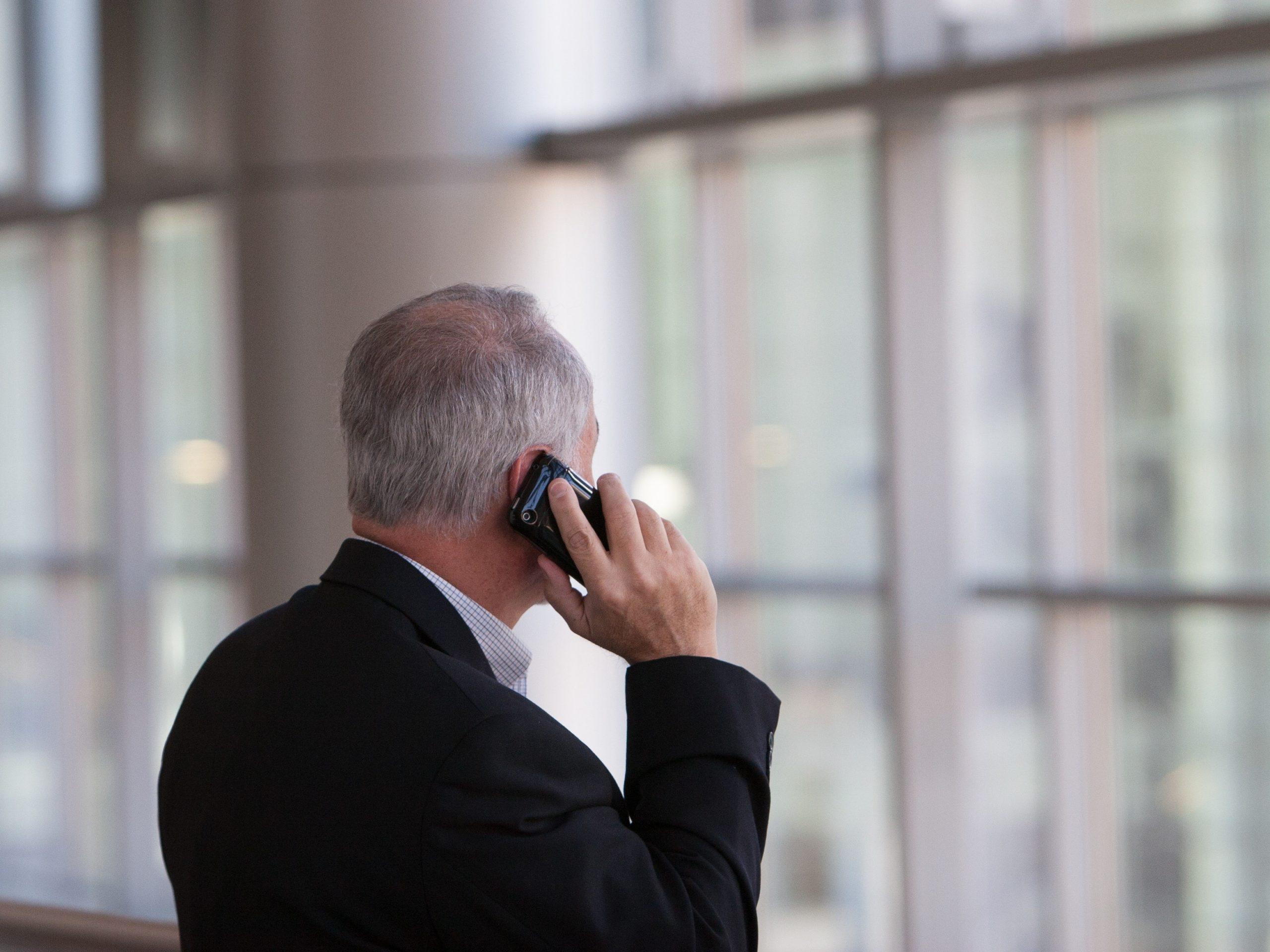 Man making a phone call.
