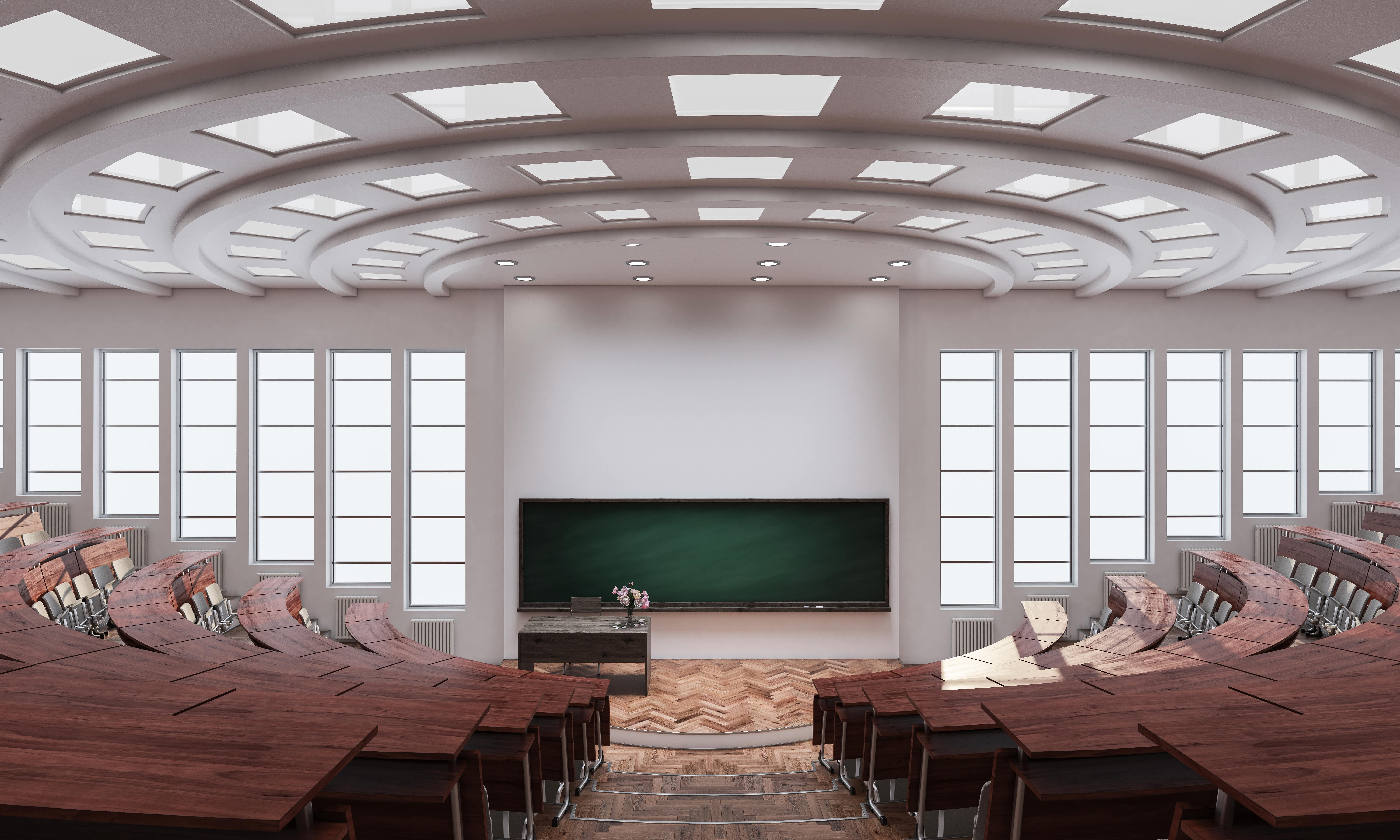 University lecture theatre.